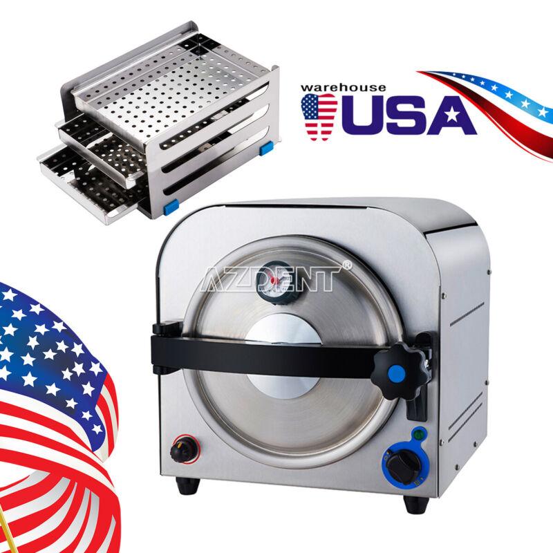 Dental 14L Autoclave Steam Sterilizer Medical Home Sterilization Stainless Steel