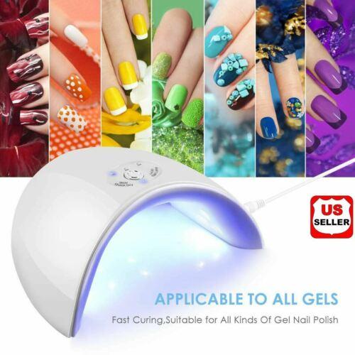 36W LED UV Nail Polish Dryer Lamp Gel Acrylic Curing Light Spa Professional Kit Health & Beauty
