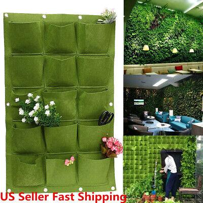 15 Pocket Wall Herbs Vertical Garden Hanging Planter Bag Pot Outdoor Indoor Us
