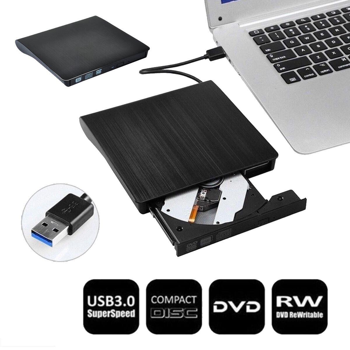 USB 3.0 Extern CD-RW Brenner Portable Slim Laufwerk DVD Combo Brenner Notebook