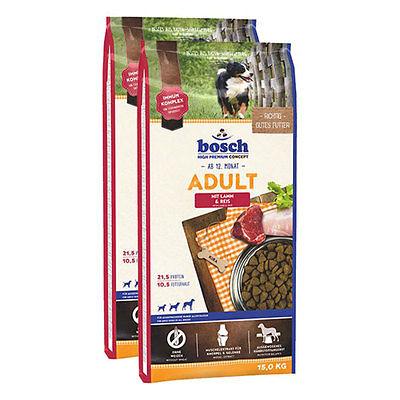 Bosch Hundefutter Trockenfutter verschiedene Sorten 2x15kg Sparpaket