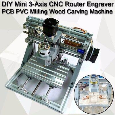 Diy Cnc Router 3-axis Engraver Hine Pcb Pvc Milling Wood Carving Tool Set Kit Us