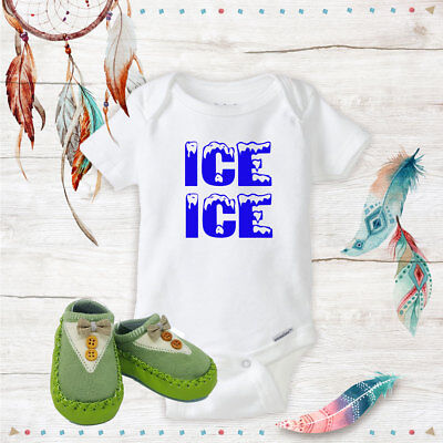 Ice Ice 90s Vanilla Onsies & Green Bow Tie Shoes Best Baby Shower Gifts Idea - Best Baby Shower Ideas