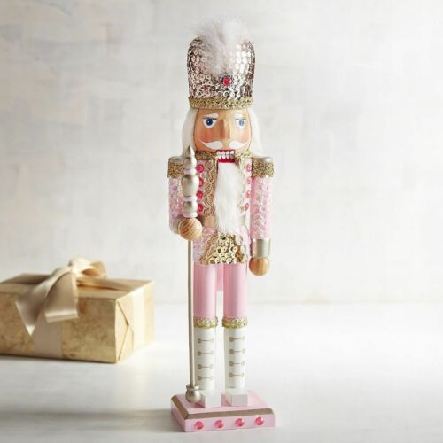 Pink Sequined 15″ Christmas Nutcracker Pier 1 Soldier NWT NEW