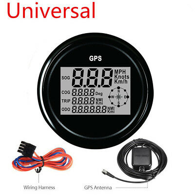 85mm 7 Colors LED Backlight GPS Digital SOG COG ODO TRIP Car Truck Speedometer