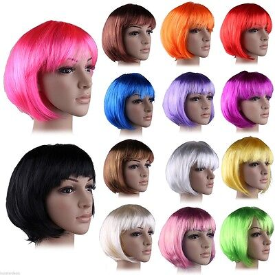 Vogue Multi Color Costume BOB Wigs Hot Sale Short Anime Cosplay Hair Wig UPS L4