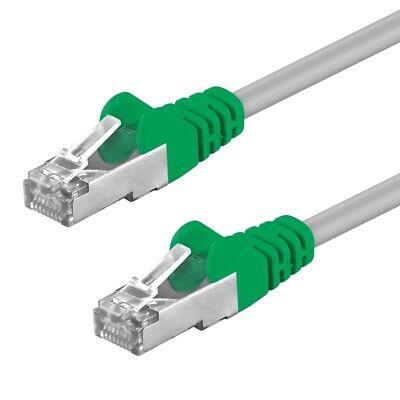 CAT5 Kabel F/UTP Crossover Patchkabel DSL LAN Netzwerkkabel cross grau 0,5m- 20m