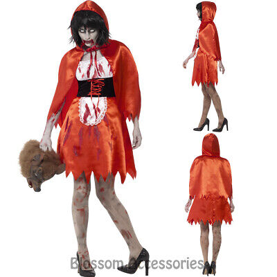 Miss Riding Hood Costume Horror Bloody Halloween Fancy Dress (Little Miss Riding Hood)