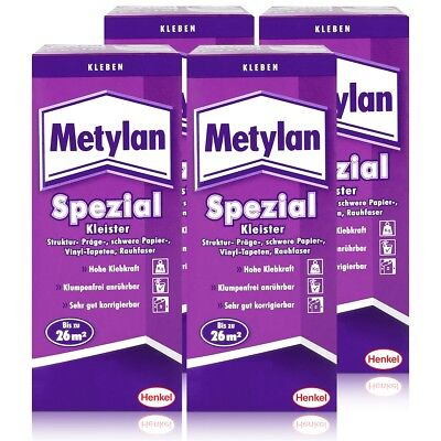 Henkel Metylan Spezial Tapetenkleister mit extra Power 200g ( 4er Pack )