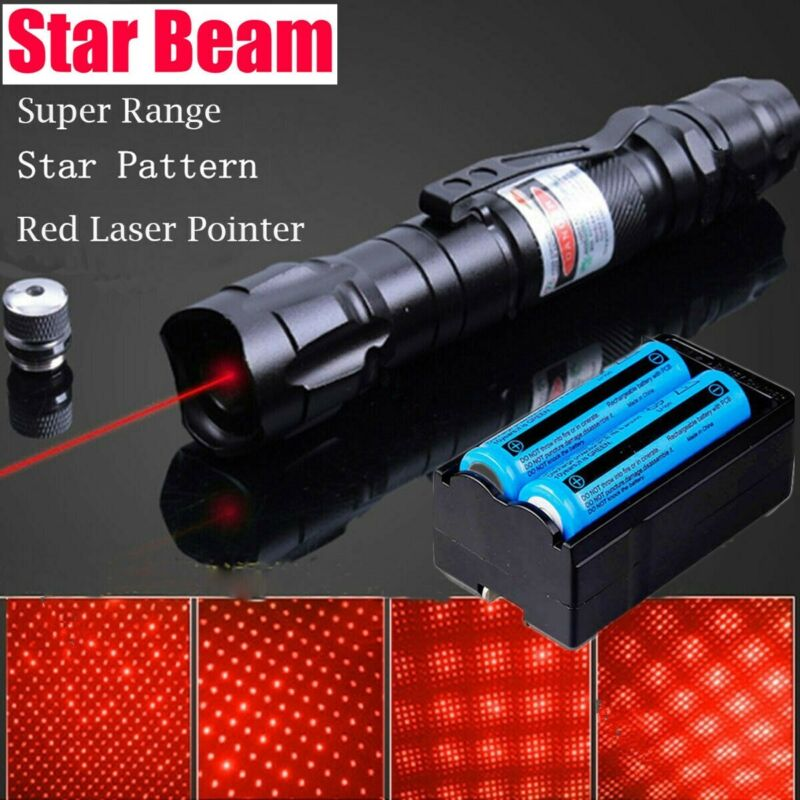 Rechargeable 990miles 650nm Red Laser Pointer Star Beam Amazing Lazer Pen Light