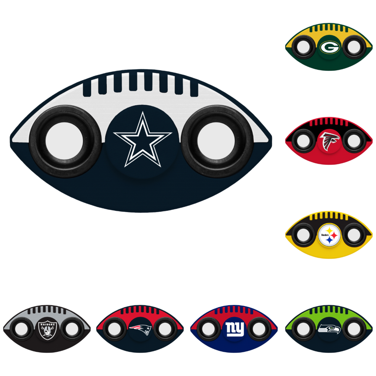 NFL Team Logo 2 Two Way Diztracto Fidget Hand Spinners - Pick Team