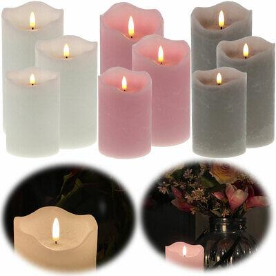 Design 3D LED Echtwachs flackernde flammenlose Kerzen Timer bewegliche Flamme