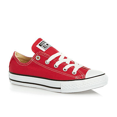 Converse Chuck Taylor Red White Youth Boy Girl Ox Kids Canvas Shoes Sizes (Kids Chuck Taylor)