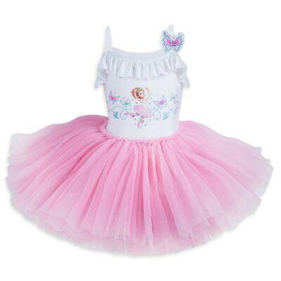 NWT Disney Store Fancy Nancy Leotard Tutu Dance Tulle Girls SZ 7/8