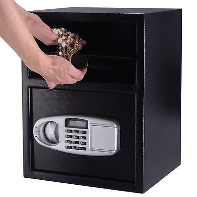 Large Digit Depository Drop Deposit Keypad Lock Gun Money Home Security Safe Box