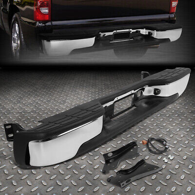 FOR 99-07 CHEVY SILVERADO GMC SIERRA FLEETSIDE STAINLESS STEEL REAR STEP BUMPER ()