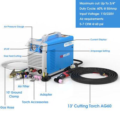 Plasma Cutters Non-touch Pilot Arc Cut 55 Dc Inverter Cutting Machine 110220v