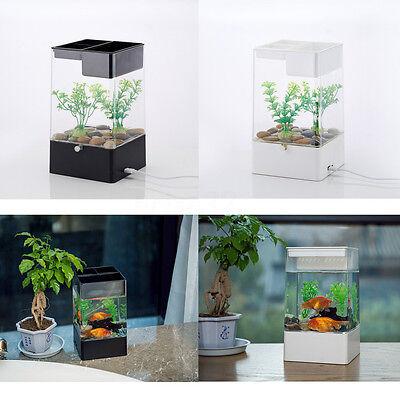 Led Light Square Usb Interface Aquarium Ecological Office Desk Fish Tank  Filter