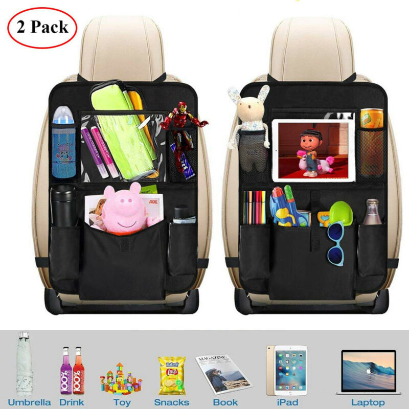 2 x Car Seat Back Protector Cover For Children Baby Kick Mat Protect Storage Bag