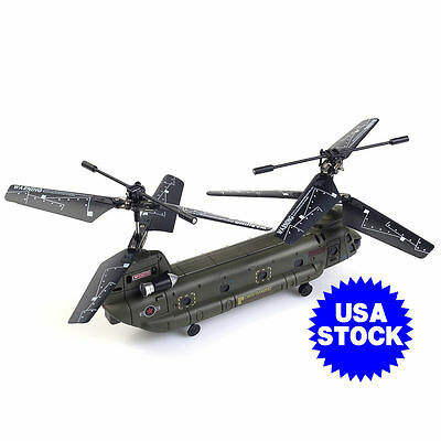 Syma S026G 3 CH Remote Control Mini Chinook RC Helicopter with GYRO New