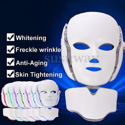 7 colors light photon led facial neck mask skin. Black Bedroom Furniture Sets. Home Design Ideas