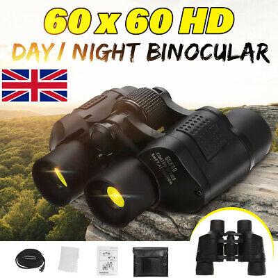 60x60 Day Night Military Army Zoom Powerful Binoculars Optics Telescope Hunting
