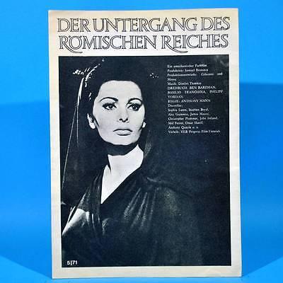 """2016 Film Für Sie 5/1971 DDR """"Der Untergang des Römischen Reiches"""" Sophia Loren"""