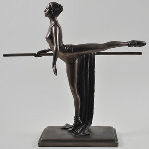 Discipline of Training Bronze Ballerina Sculpture Figurine Gift Home Decor 01497