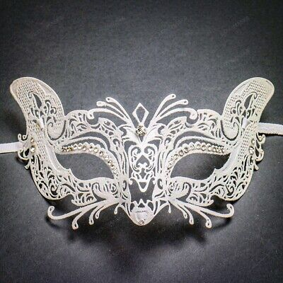Sexy Fox White Glitter Masquerade Women Masks For Prom Party Halloween Costume - Fox Costumes For Halloween