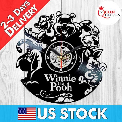 Disney Winnie the Pooh Vinyl Record Wall Clock Birthday Gift