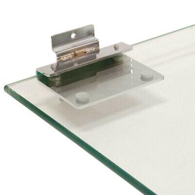 Slatwall Panel Shelf Bracket 38 Only Glass Shelves Lot Of 2 Chrome New