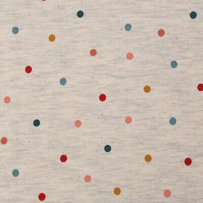 Jersey Mezclado Puntos Beige Moteado Colorido 1,45m Ancho