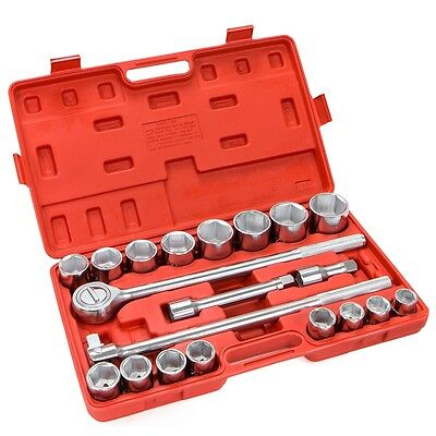 "21 Pc 3/4"" Drive Socket Wrench Set standard sae Tools Truck Repair Sockets Auto"