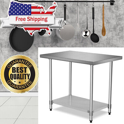 Stainless Steel Commercial Kitchen Restaurant Food Prep Work Table 24 X 36