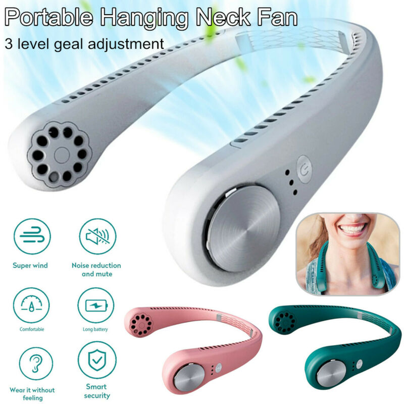 Electric Air Conditioner USB Portable Hanging Neck Fan Little Cooling Air Cooler