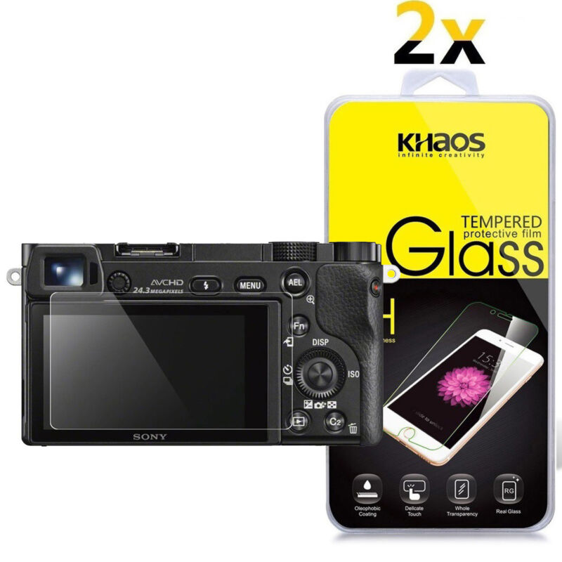 2-Pack Khaos For Sony A6000 A6300 A5000 Tempered Glass Screen Protector