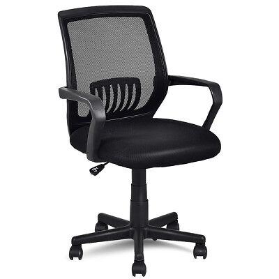 Modern Ergonomic Mid-back Mesh Computer Office Chair Desk Task Task Swivel Black