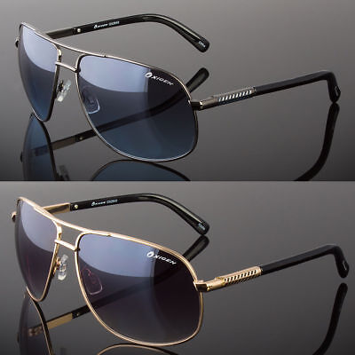 New Designer Square Aviator Sunglasses Metal Bar Retro Frame Men's -