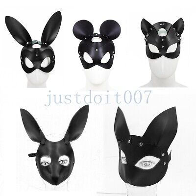 PU Leather Halloween rabbit bunny Head Animal Party - Rabbit Halloween