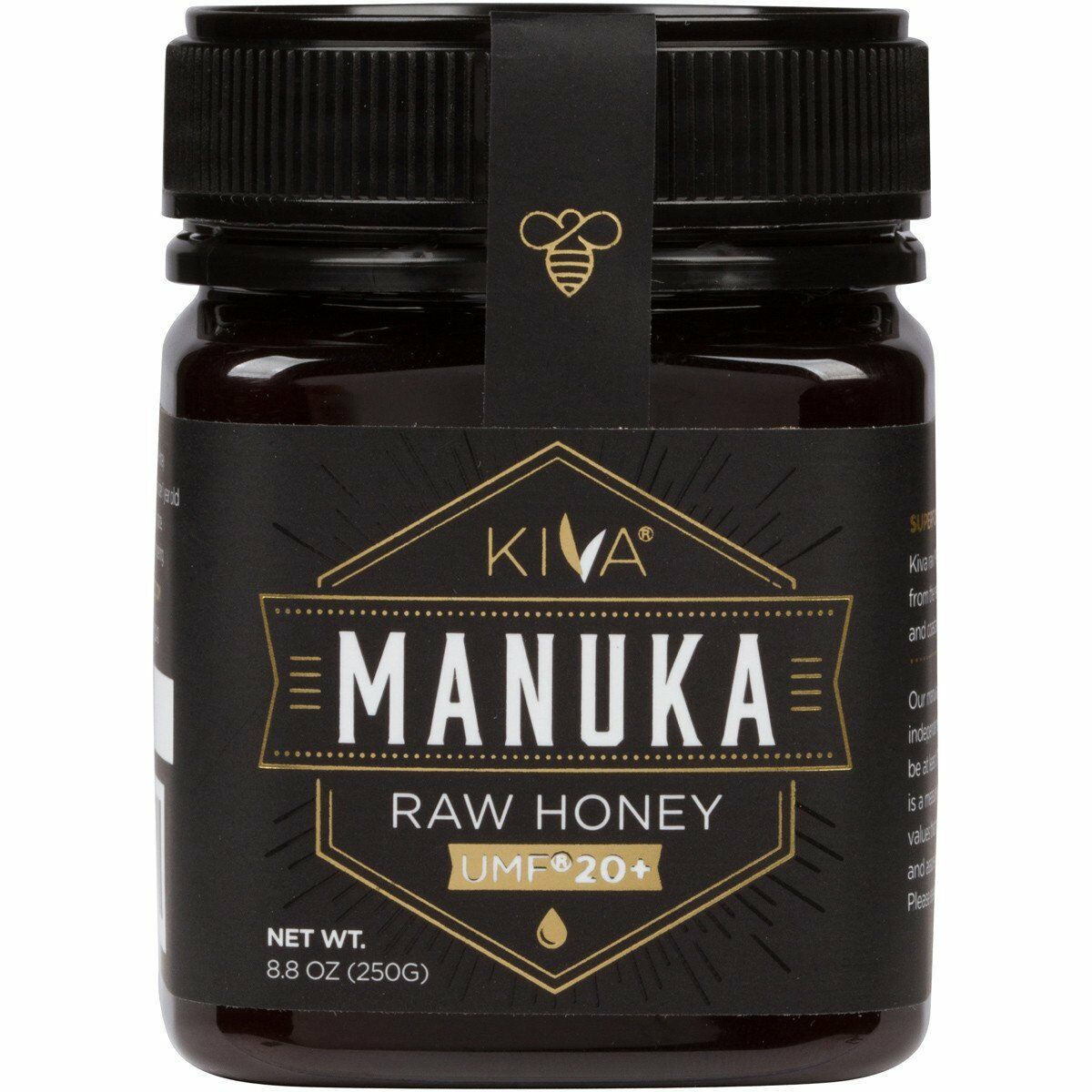 *NEW!*- KIVA Certified UMF 20+ Raw Manuka Honey (8.8oz)
