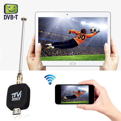 Micro USB DVB-T Digital Mobile TV Tuner Receiver+Antenna for Android 4.0-6.0US S