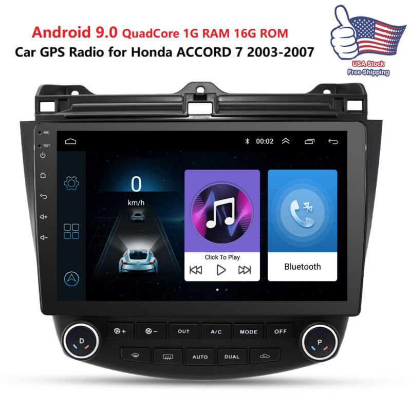 For Honda Accord 2003-2007 10.1in Android 9.1 Stereo Car Radio GPS MP5 Player US