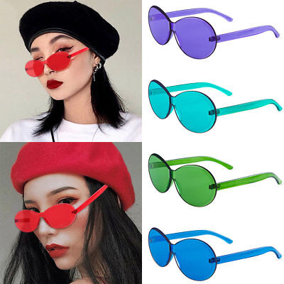 Fashion Women Sunglasses Oval Without Frame Trendy Girl Sun Glasses Candy (Sunglasses Without Sun)