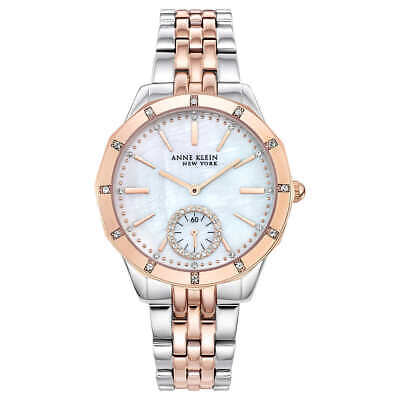 Anne Klein New York 12/2305MPRT Two-Tone Swarovski Crystal Women's Watch