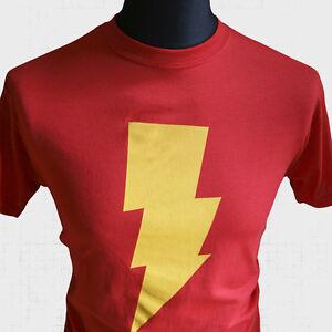 Shazam t shirt sheldon cooper the big bang theory for Retro superhero t shirts
