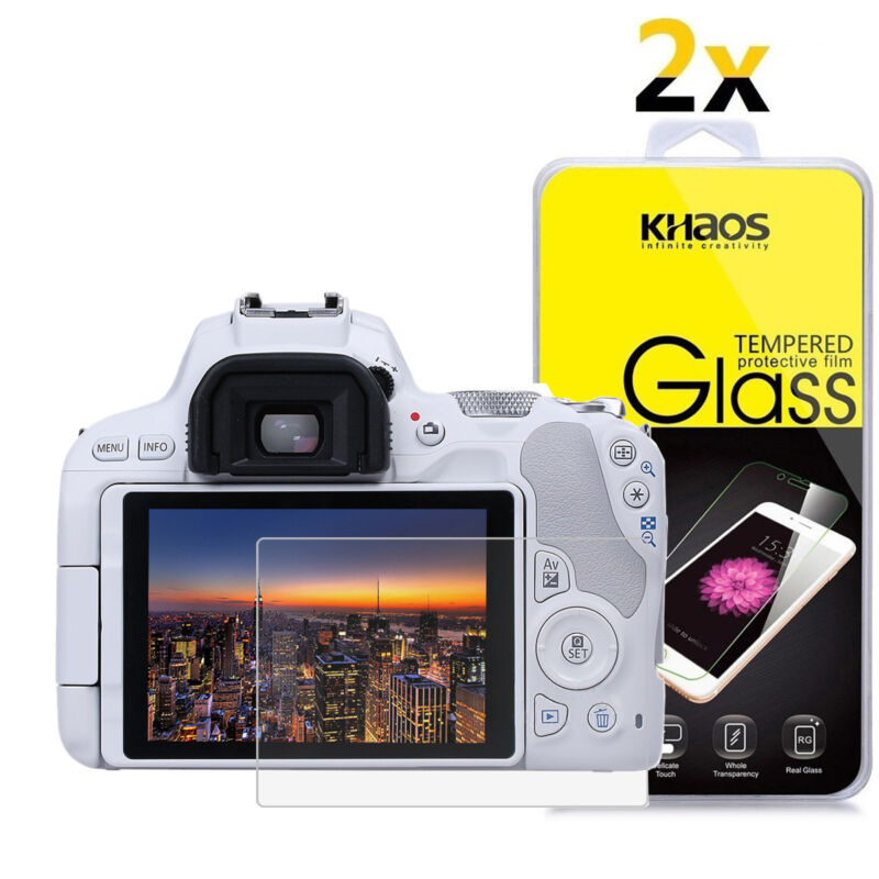 2-Pack Khaos For Canon Eos 200D / KISS 9 / SL2 Tempered Glass Screen Protector