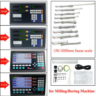 23axis Digtallcd Dro Readout Display And Linear Scale For Millingboring Lathe