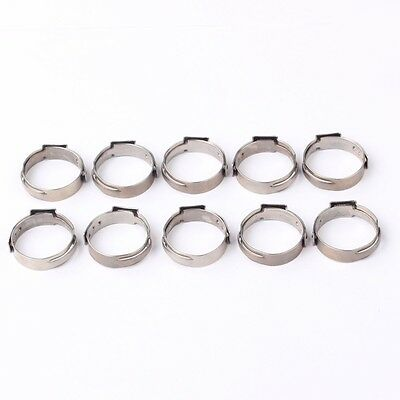 100pcs 12 Pex 17.5mm Stainless Steel Clamp Cinch Rings Crimp Pinch Fitting
