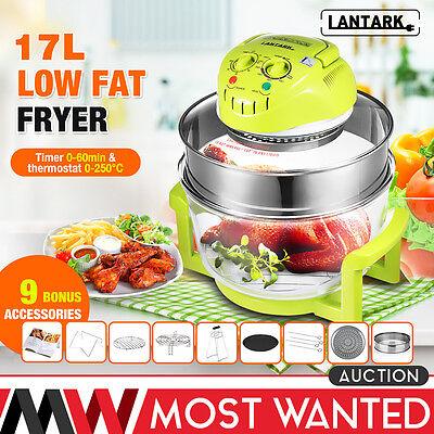 LANTARK 12L-17L Halogen Convection Oven Cooker Low Fat Air Fryer + Extender Ring