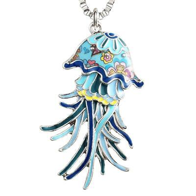 Necklace Design For Girls (Jellyfish Pendant Necklace for Women Girls  Design Sea Collection Gifts)